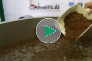 separating chocolate brownie