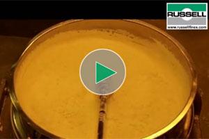 sieving of buttermilk